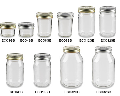 Mason Jars (Canning Jars) with Button Lids