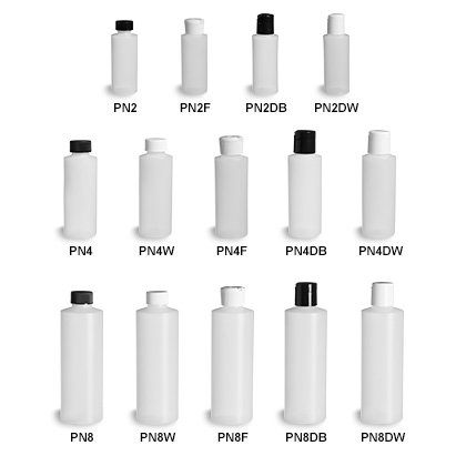 Natural HDPE Plastic Bottles